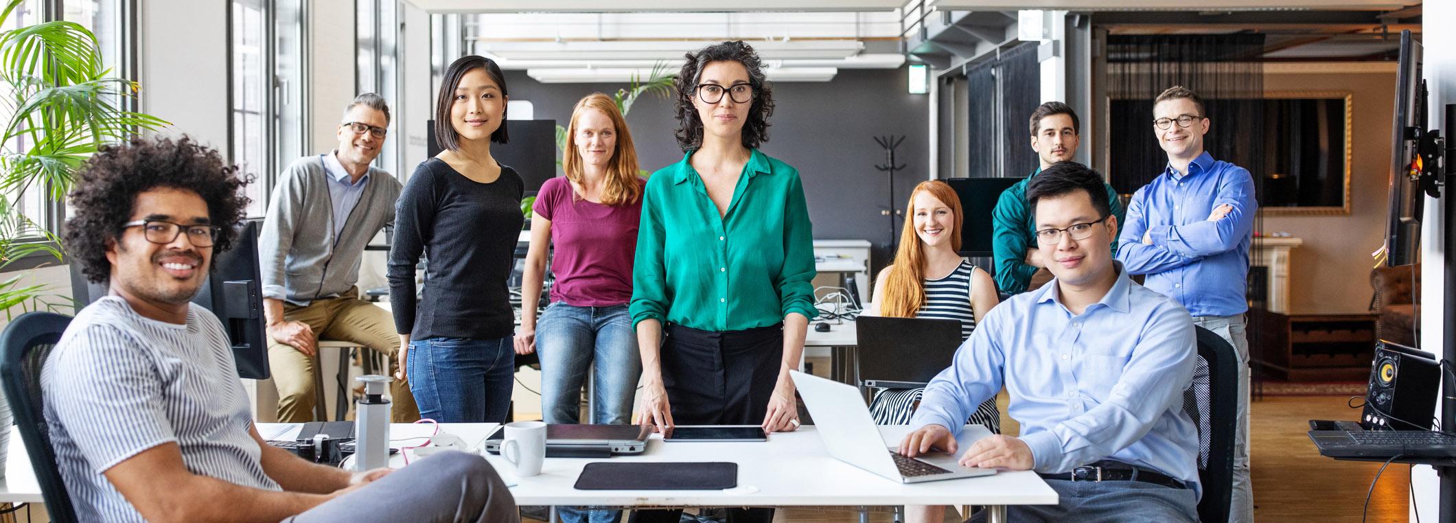 Portrait of successful business professionals