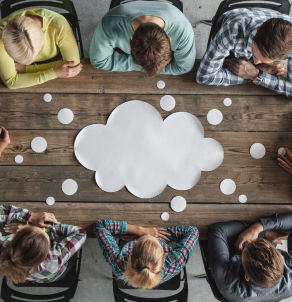 Teamwork meeting concept